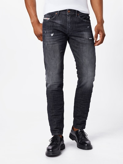 DIESEL Jeans 'Thommer-X' in black denim, Modelansicht