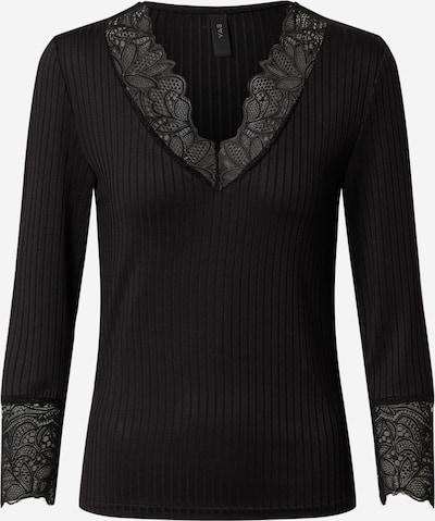 Y.A.S Shirt 'YASBLACE 3/4 V-NECK TOP FT' in schwarz, Produktansicht