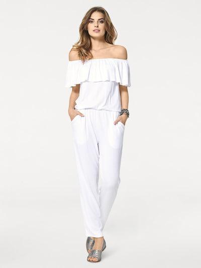 Tuta jumpsuit heine di colore bianco, Visualizzazione modelli