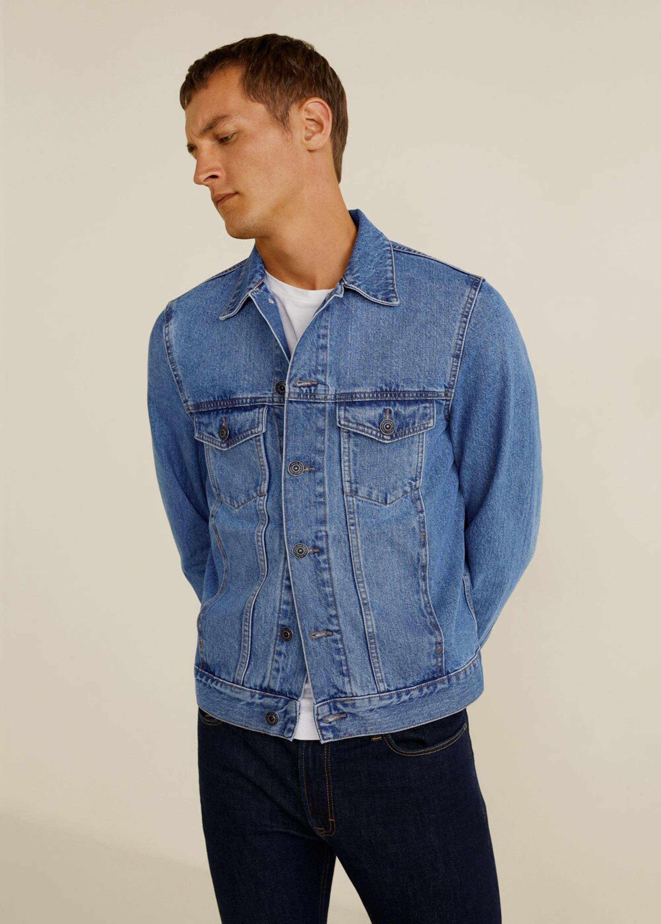 Mango 'ryan5' Man Denim Jacke In Blue LVpUzGSqM