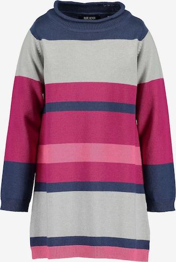 BLUE SEVEN Strickkleid in nachtblau / hellgrau / pink, Produktansicht