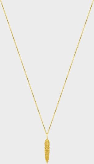 ID Fine Chaîne 'Feder' en or, Vue avec produit