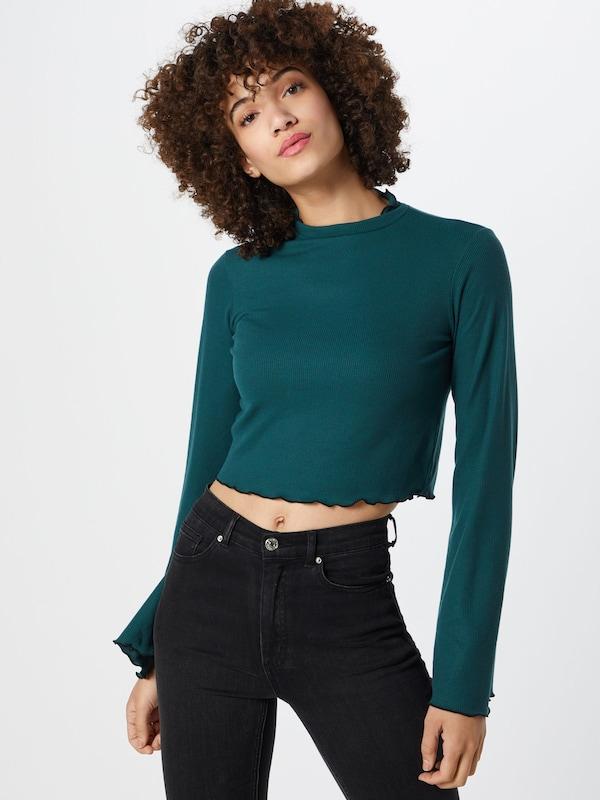 shirt 'seam Top' En Pétrole Na kd T Frill m80wOvNn