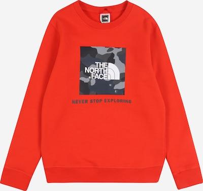 THE NORTH FACE Sweatshirt 'Y BOX CREW' in grau / rot, Produktansicht