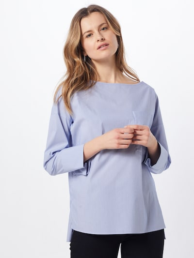 BOSS Bluse 'Cotta' in blau, Modelansicht