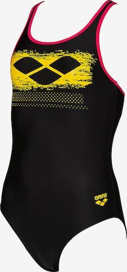 ARENA Badeanzug 'Scratchy' in gelb / rot / schwarz: Frontalansicht