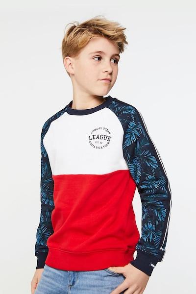 WE Fashion Sweatshirt in blau / rot / weiß: Frontalansicht