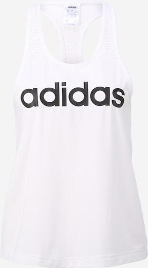 ADIDAS PERFORMANCE Sportski top u crna / bijela: Prednji pogled