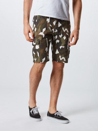 Urban Classics Hose in karamell / kastanienbraun / khaki / weiß, Modelansicht