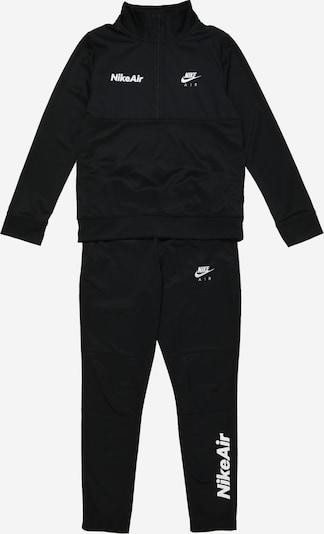 Nike Sportswear Joggingpak in de kleur Zwart / Wit, Productweergave