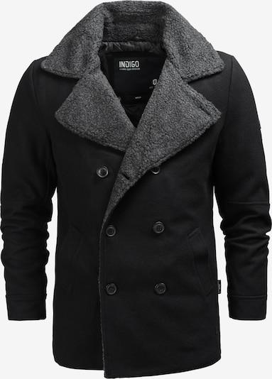 INDICODE JEANS Winterjas 'Basire' in de kleur Grijs / Zwart, Productweergave