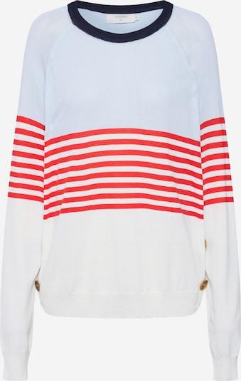 Cream Pullover 'Mimi' in hellblau / rot / eierschale, Produktansicht