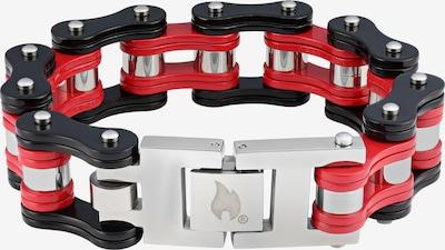 ZIPPO Armband in de kleur Vuurrood / Zwart / Zilver, Productweergave