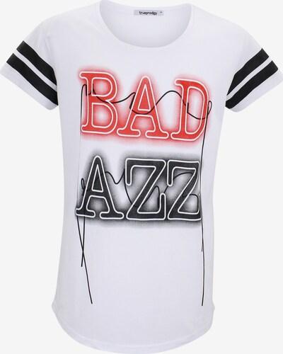 trueprodigy T-Shirt 'Lex' in hellrot / schwarz / weiß, Produktansicht