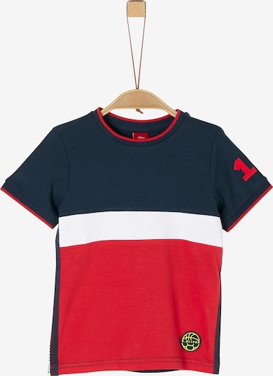 s.Oliver T-Shirt in blau / rot / weiß, Produktansicht