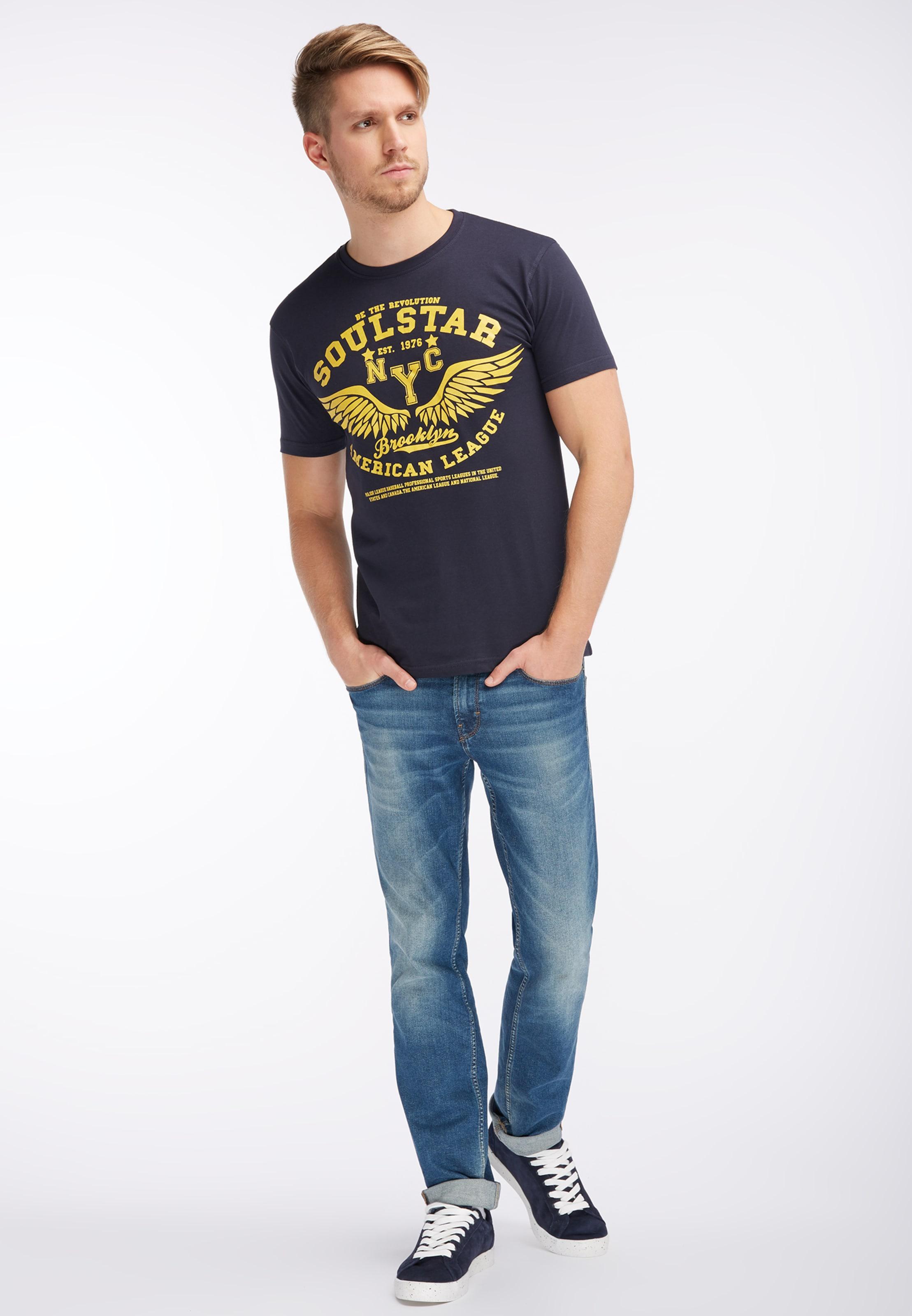 shirt En T T Soulstar shirt Soulstar MarineJaune yvbgf7Y6