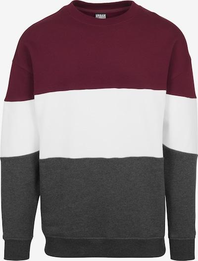 Urban Classics Sweatshirt in weinrot / schwarzmeliert / weiß, Produktansicht
