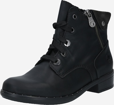RIEKER Lace-up bootie in black / silver, Item view