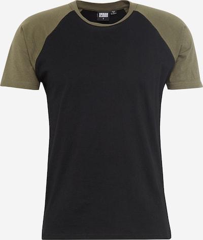 Urban Classics T-Shirt 'Raglan Contrast' in oliv / schwarz, Produktansicht