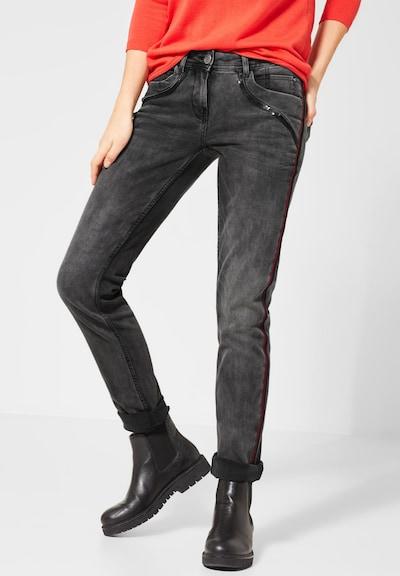 CECIL Jeans in grau / rot / schwarz, Modelansicht