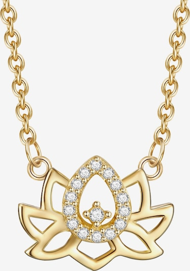 Rafaela Donata Halskette in gold / weiß: Frontalansicht