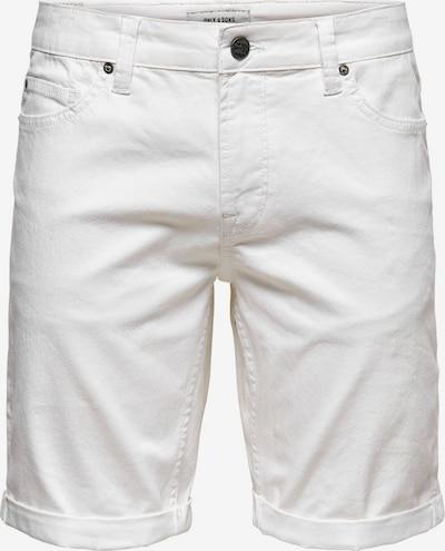 Only & Sons Jeans in de kleur Wit, Productweergave