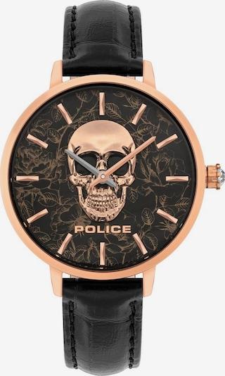 POLICE Uhr in rosegold / schwarz, Produktansicht