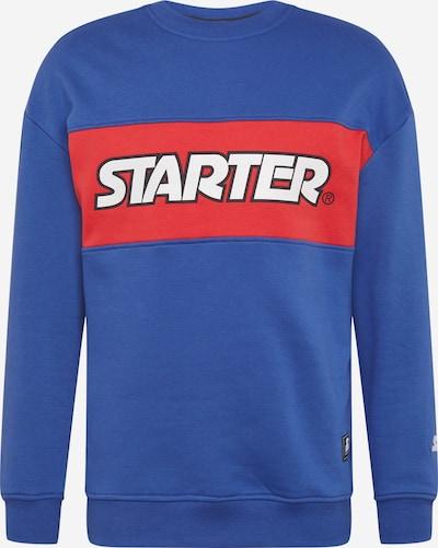 Starter Black Label Sweater majica u kraljevsko plava / jarko crvena / crna / bijela, Pregled proizvoda