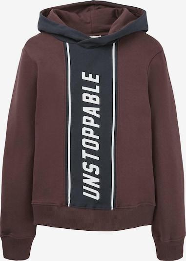 TOM TAILOR Sweatshirt in kobaltblau / braun / weiß, Produktansicht