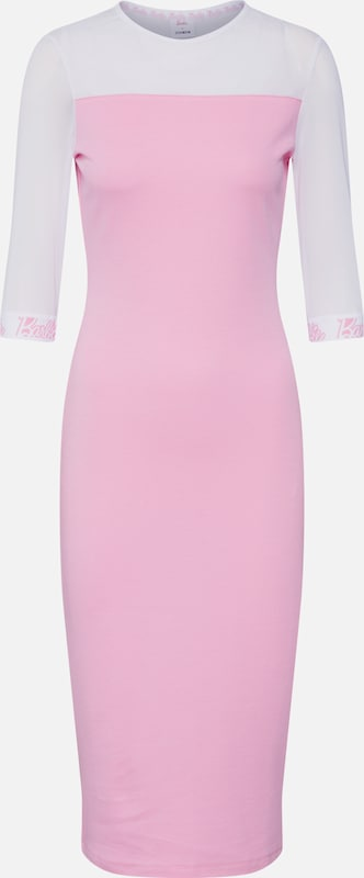 ABOUT YOU X Barbie Jurk 'Soraya' in de kleur Pink / Wit, Productweergave