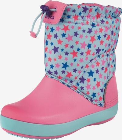 Crocs Winterstiefel 'Lodge Point Graphic' in blau / rosa, Produktansicht