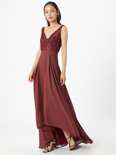 SWING Kleid in weinrot, Modelansicht