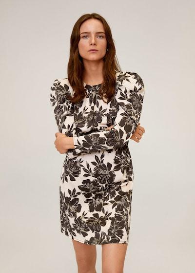 MANGO Kleid 'denia-i' in beige / schwarz, Modelansicht