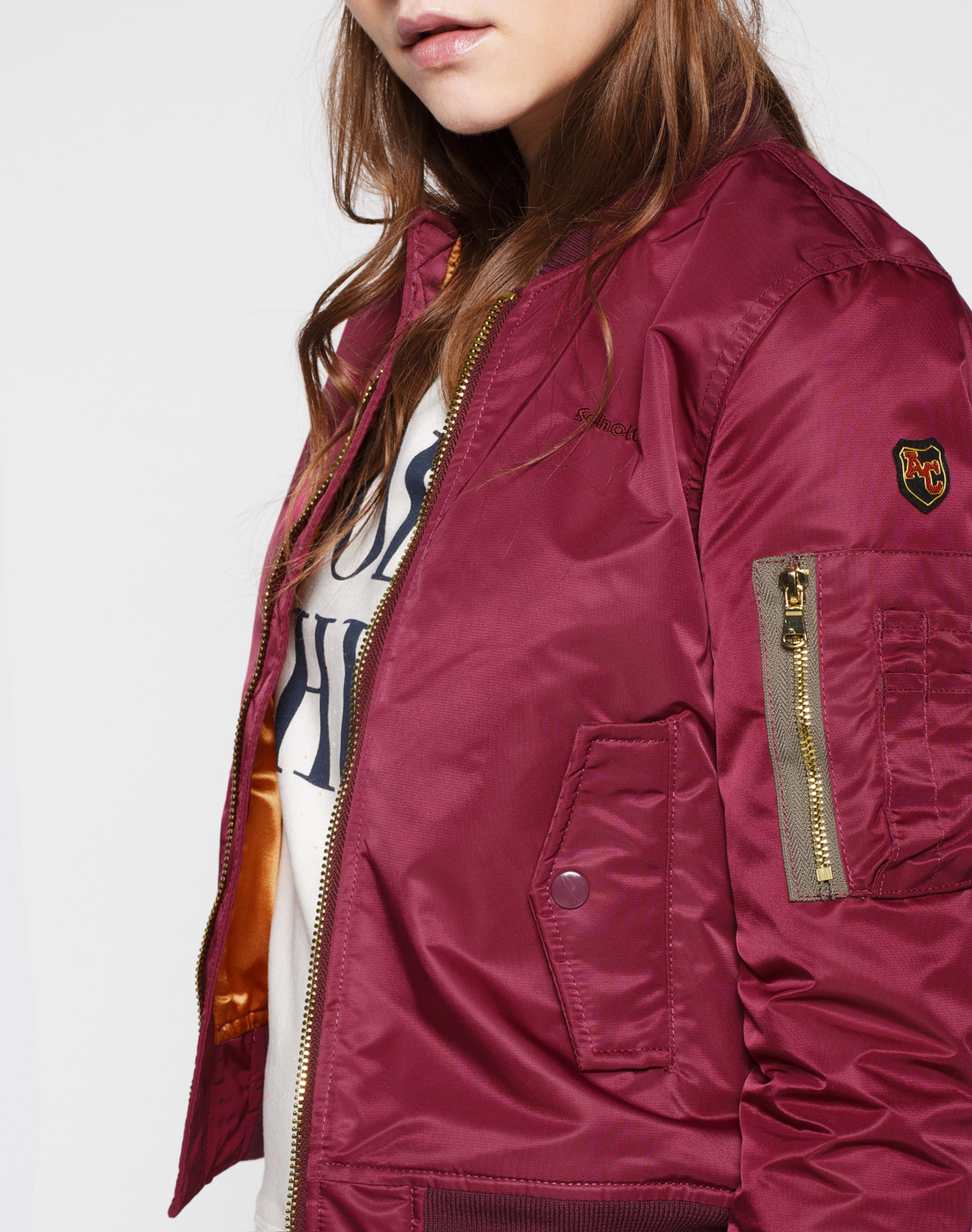 In Bordeaux Nyc Schott Bomberjacket sCQhrtdx