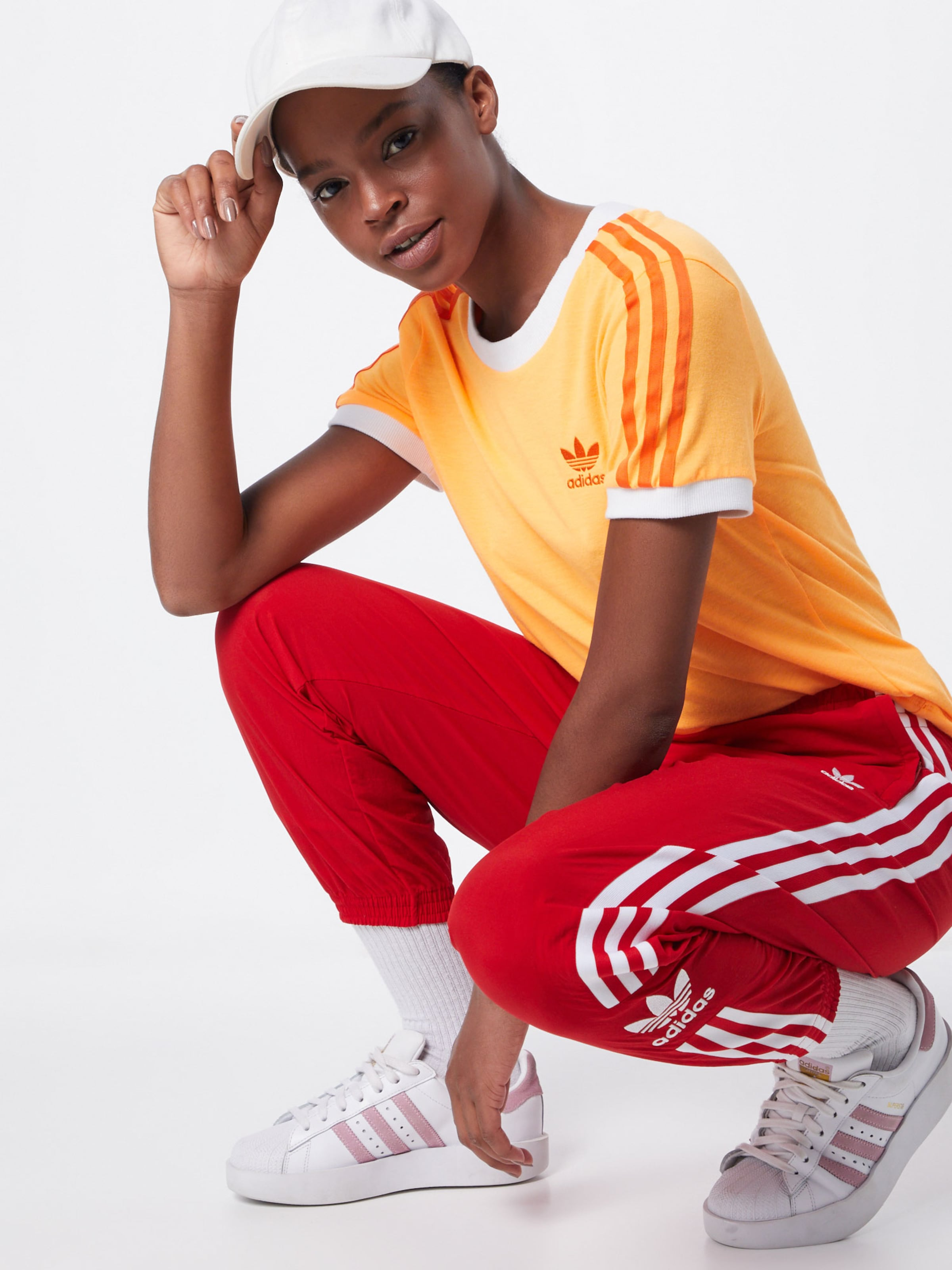 shirt Adidas En T Orange Clair Originals qVSUzpM