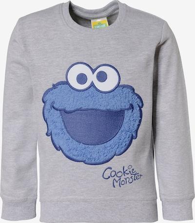 SESAMSTRASSE Sweatshirt in marine / hellblau / grau / weiß, Produktansicht