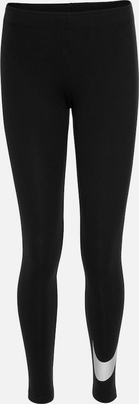 Nike Sportswear Tights 'Favorites' in schwarz / weiß, Produktansicht