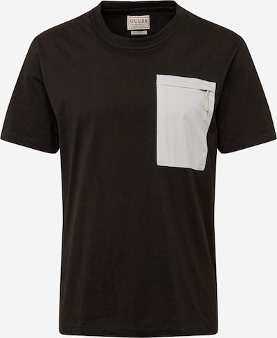 GUESS Shirt in grau / schwarz: Frontalansicht