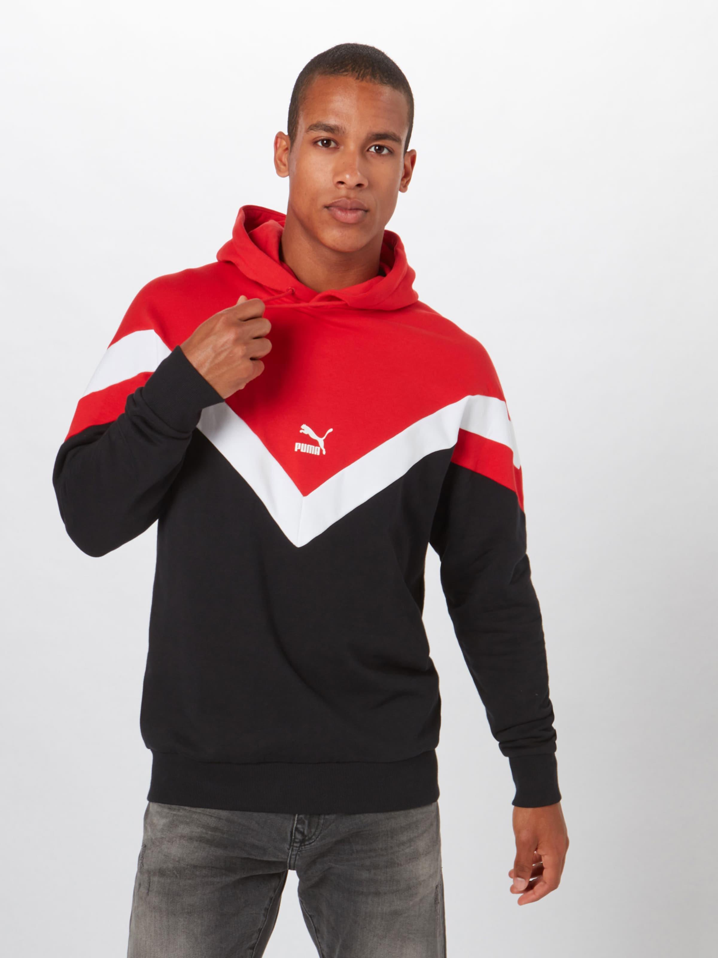 Sweat Tr' Puma RougeNoir shirt Mcs Blanc 'iconic En PZN80wOknX