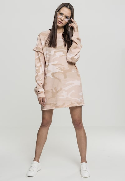 Urban Classics Kleid in hellbeige / rosa, Modelansicht