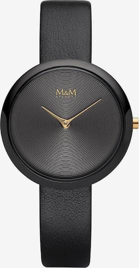 M&M GERMANY Quarzuhr 'Circle Line' in gold / schwarz, Produktansicht