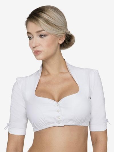 STOCKERPOINT Bluse B-8033 in weiß, Modelansicht