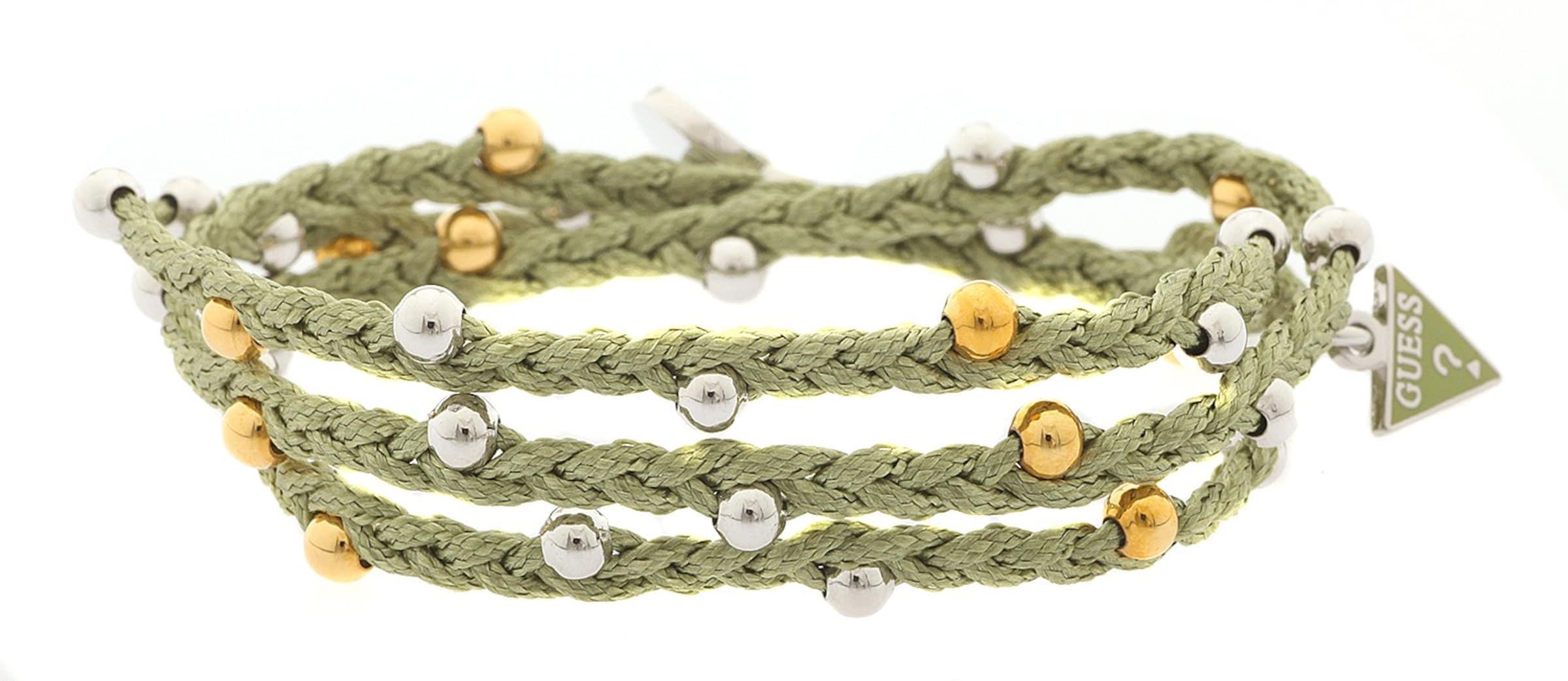 Billig Verkauf Aus Deutschland Beliebte Online GUESS Wickelarmband Textil Hellgrün 'UBB12224' Große Überraschung Rabatt Gutes Verkauf Frei Verschiffen R4HzX