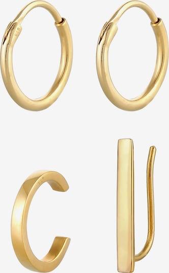 ELLI Ohrringe + Earcuff in gold, Produktansicht