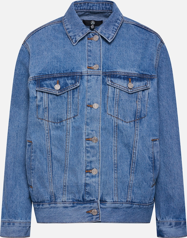 Missguided Jacke 'OVERSIZED DENIM JACKET' in blue denim, Produktansicht