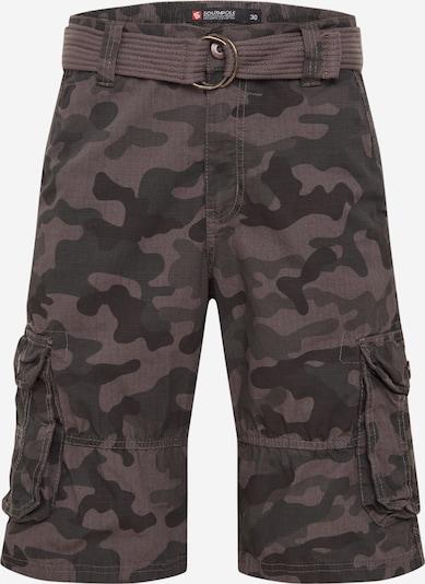 SOUTHPOLE Pantalon 'Belted Camo Ripstop' en gris / noir, Vue avec produit
