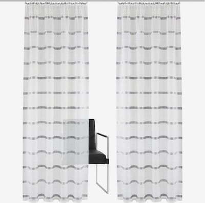 BRUNO BANANI Vorhang 'Pintos' in grau / weiß, Produktansicht