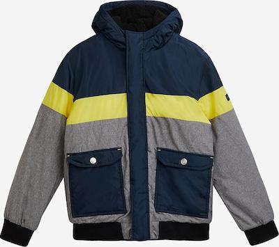 ESPRIT Jacke in dunkelblau / blaumeliert / gelb, Produktansicht