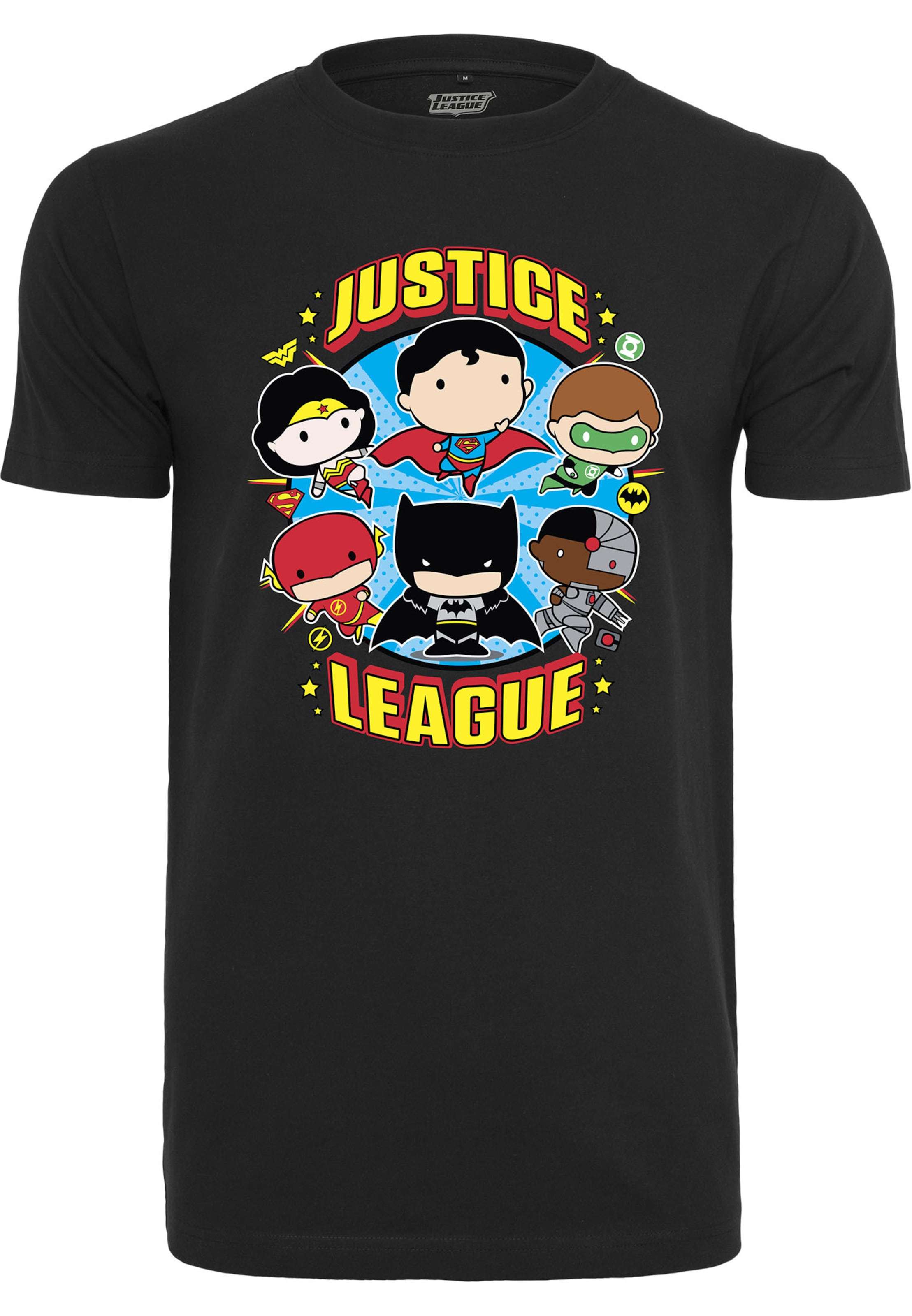 Comic Gold Tee Schwarz Shirt Mister BlauBraun Crew' 'justice In League Rostrot nwOkP80X