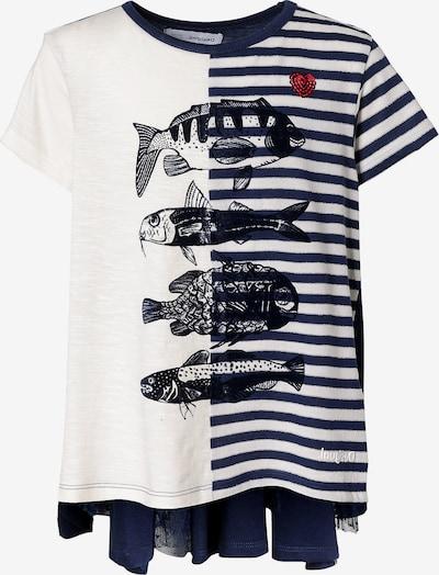 Desigual T-Shirt in blau / weiß, Produktansicht